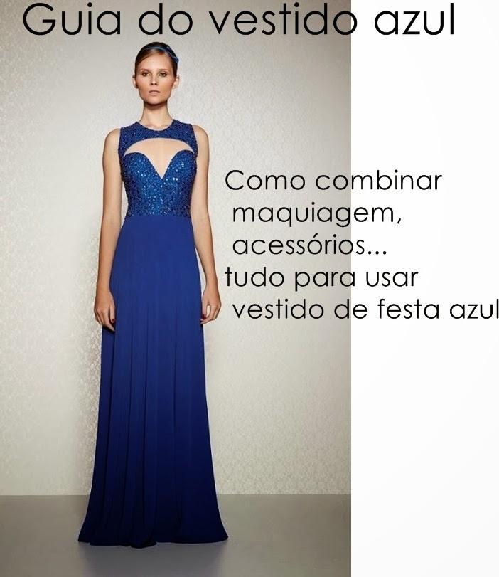 Cor de sombra para vestido azul