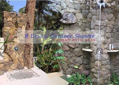 desain outdoor shower dengan batu alam batualamserponng.com