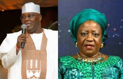 Defamation :Atiku Abubakar Demands N500m From Buhari's Media Aide Lauretta Onochie