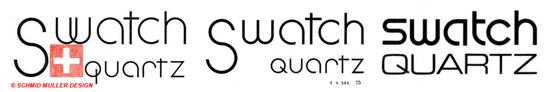 Swatch logo study 1981/1982