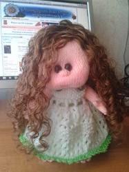 Волосы для куклы  из атласной ленты
