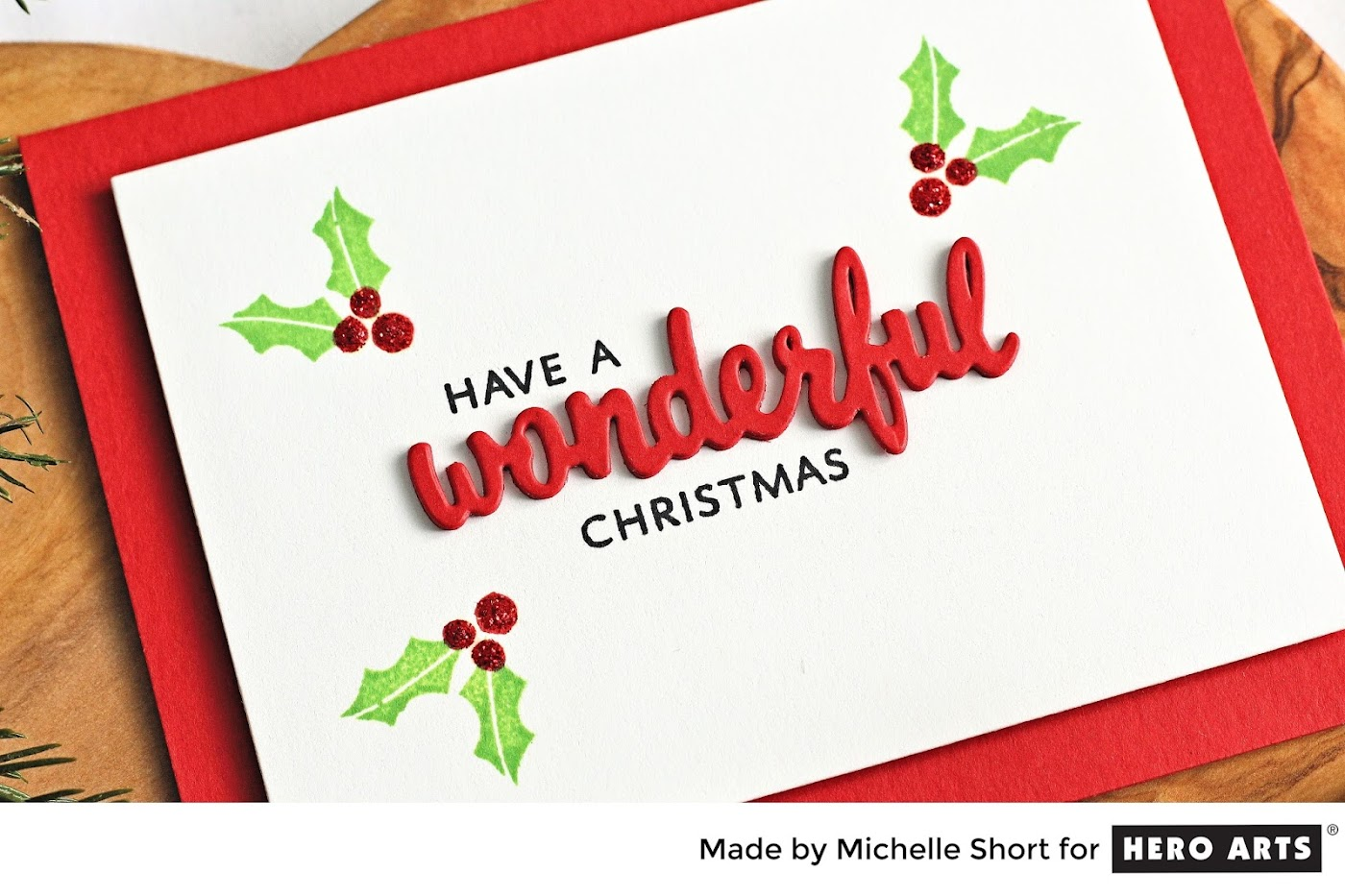 ... For Lots Of Different Occasions But I Decided To Combine It With The  Holly From The Bird Words Stamp Set For A Quick And Simple Christmas Card  Today.