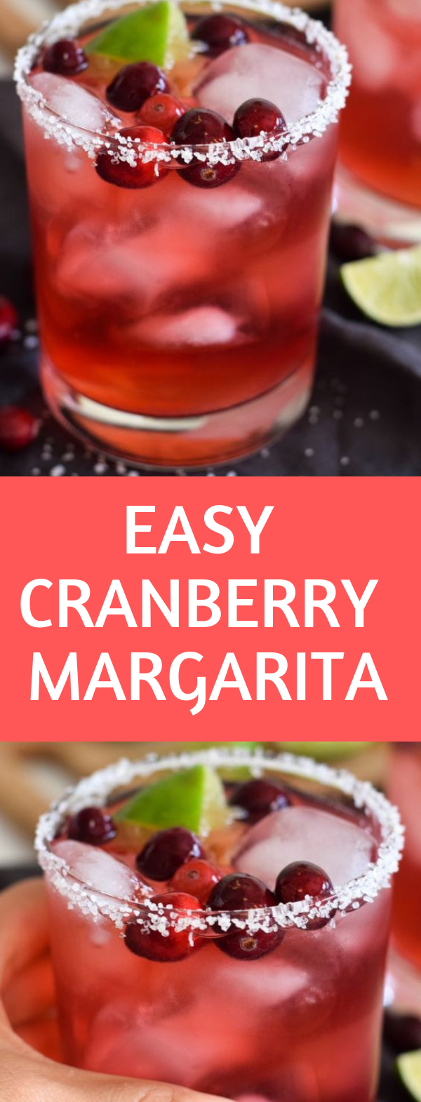 Easy Cranberry Margarita #drink #margarita