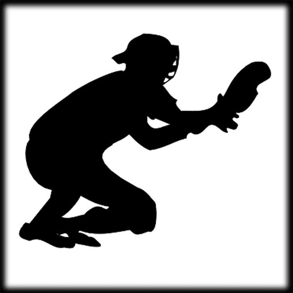 softball catcher clip art - 600×600