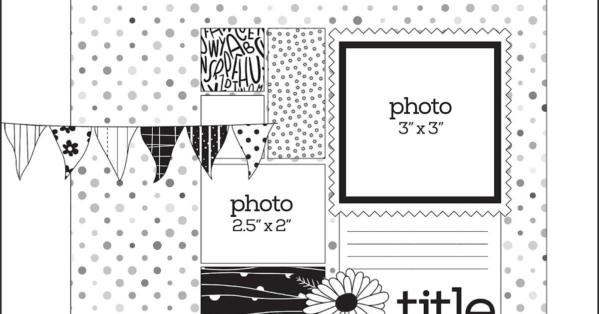 My Happy Place: Doodlebug Design: July PageMaps Sketch