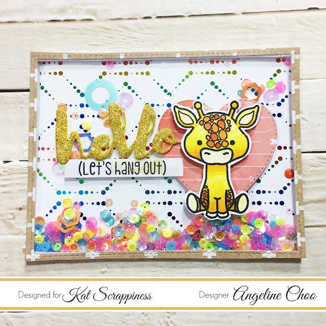 ScrappyScrappy: Kat Scrappiness Blog Hop #scrappyscrappy #katscrappiness #bloghop #copic #lolathegiraffe #foilables #heidiswapp #minc #thermoweb #decofoil #shakercard #card #cardmaking #papercraft #diycraft #scrapbook #craft #stamp #stamping #sequin #glitter #giraffe #foil #interactivecard