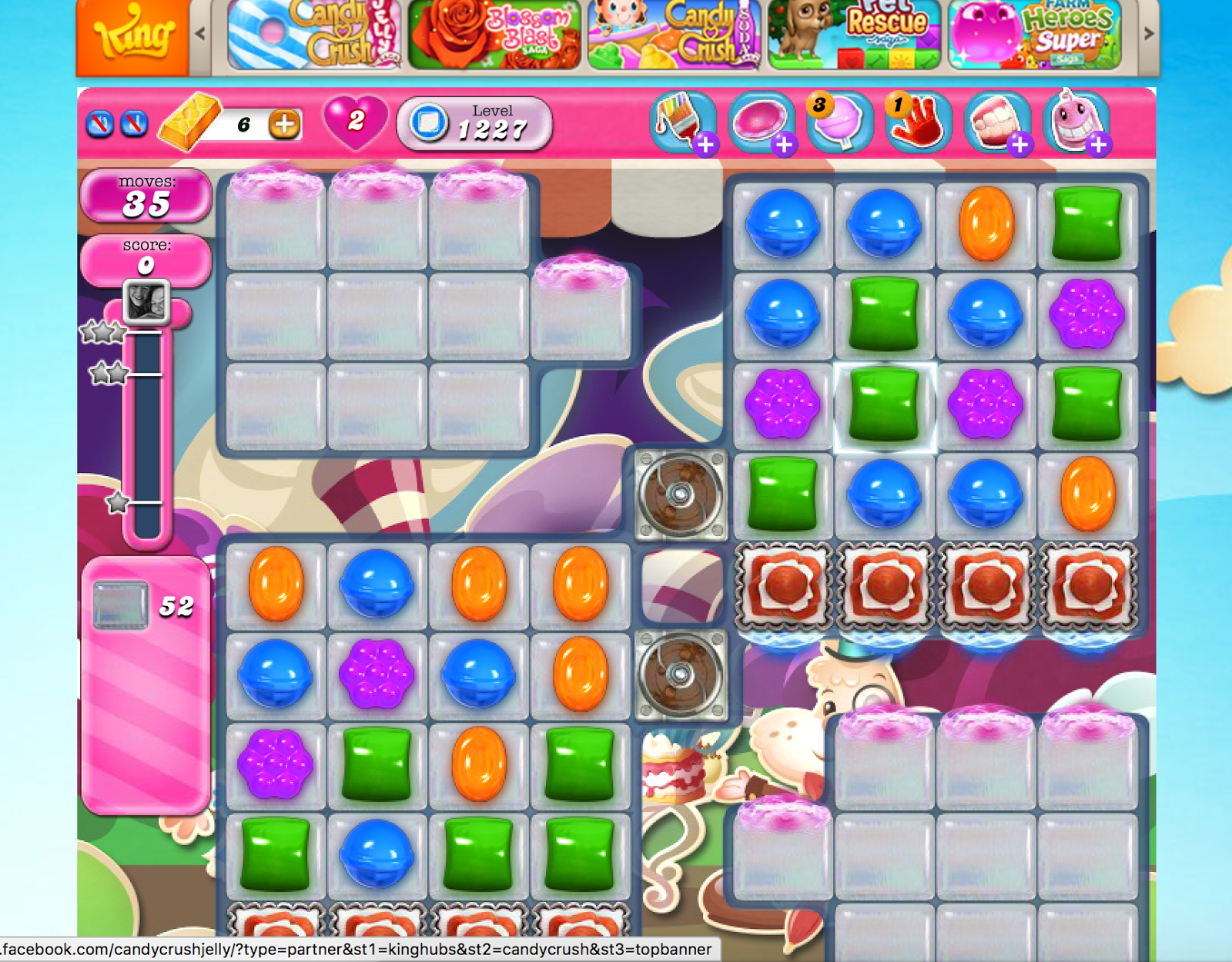Screenshot of Candy Crush Saga game in action - life lessons from Candy Crush