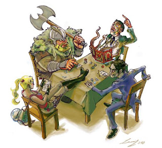 RPG de Tabuleiro, onde os jogadores interpretam personagens