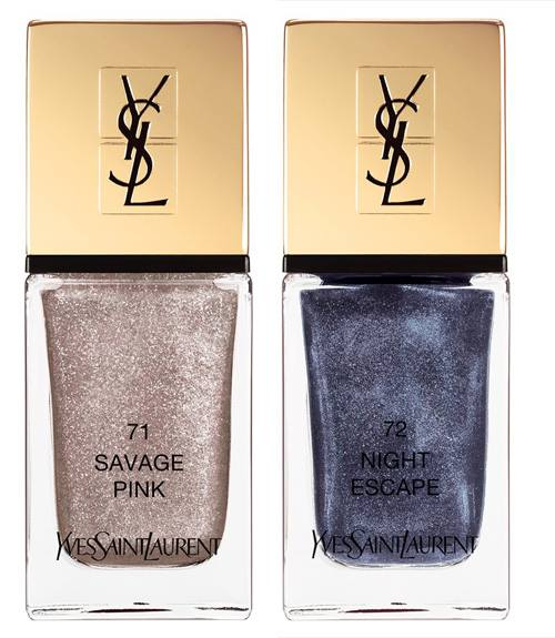 YSL La Lacque nail polish Savage Pink and Night Escape for summer 2016 Savage Escape