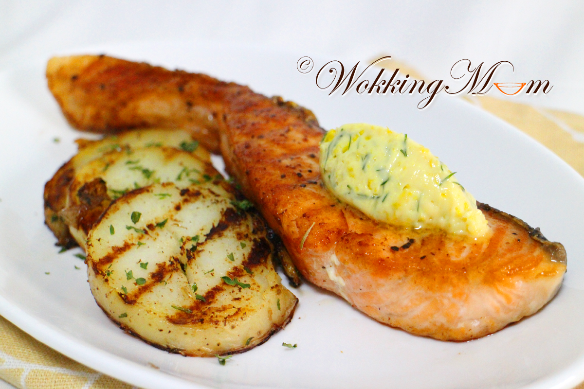 Let's get Wokking!: Pan Grilled Salmon with Zesty Dill