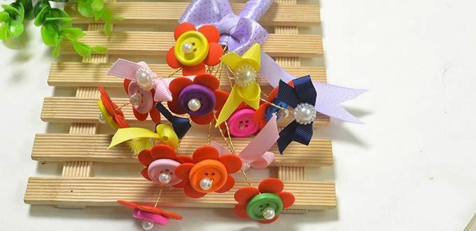 perles accesoires comment faire un bouquet de fleurs par des boutons. Black Bedroom Furniture Sets. Home Design Ideas