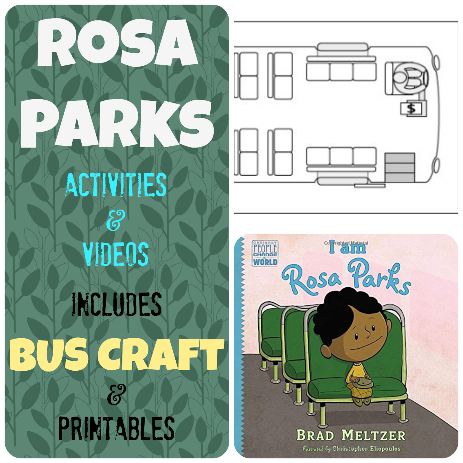 Rosa Parks Bus Story Videos and Activities Kids Creative Chaos – Rosa Parks Worksheet