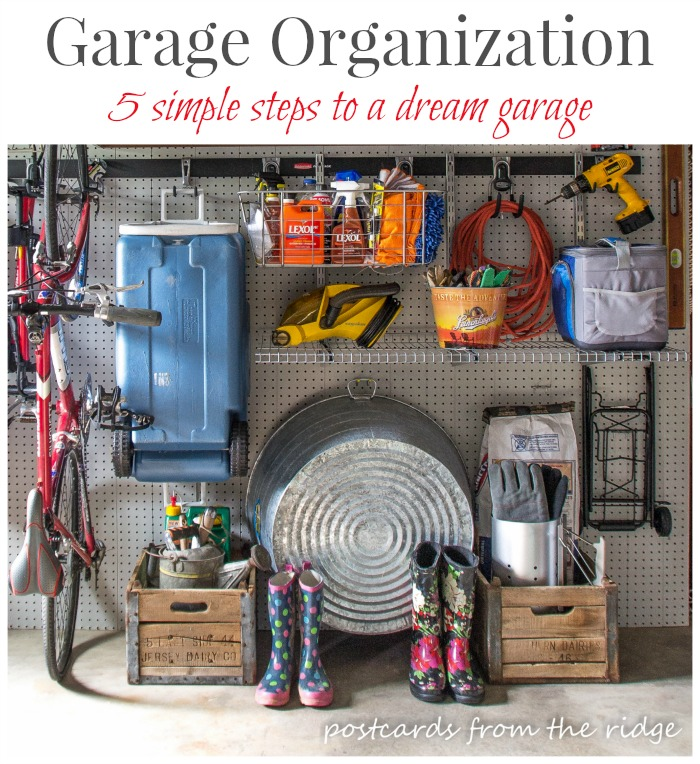 Organizing the garage in 5 simple steps.