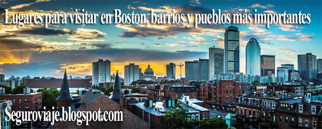 Lugares para visitar en Boston