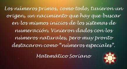 Matemático Soriano Frase Matemática 11 Números Primos