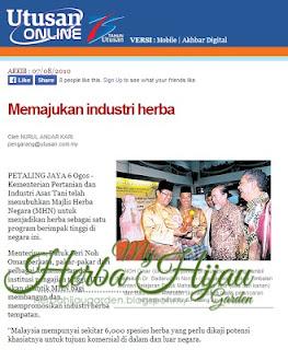 Potensi industri herba di Malaysia