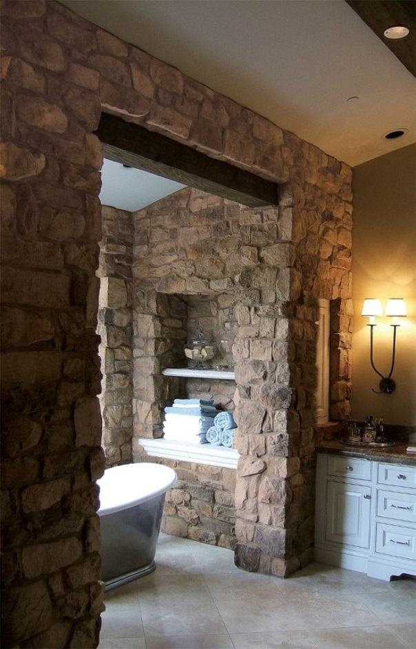 This Beautiful Natural Stone Bathroom Design Ideas You\'re gonna ...