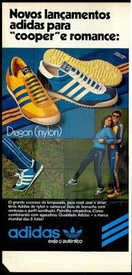 tenis adidas em 1978.  moda anos 70; propaganda anos 70; história da década de 70; reclames anos 70; brazil in the 70s; Oswaldo Hernandez