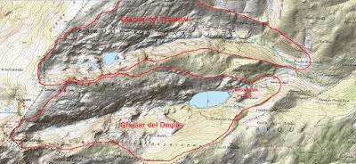 Glaciar del Duque, Glaciar del Trampal.