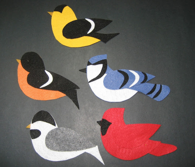 Felt Five Birds