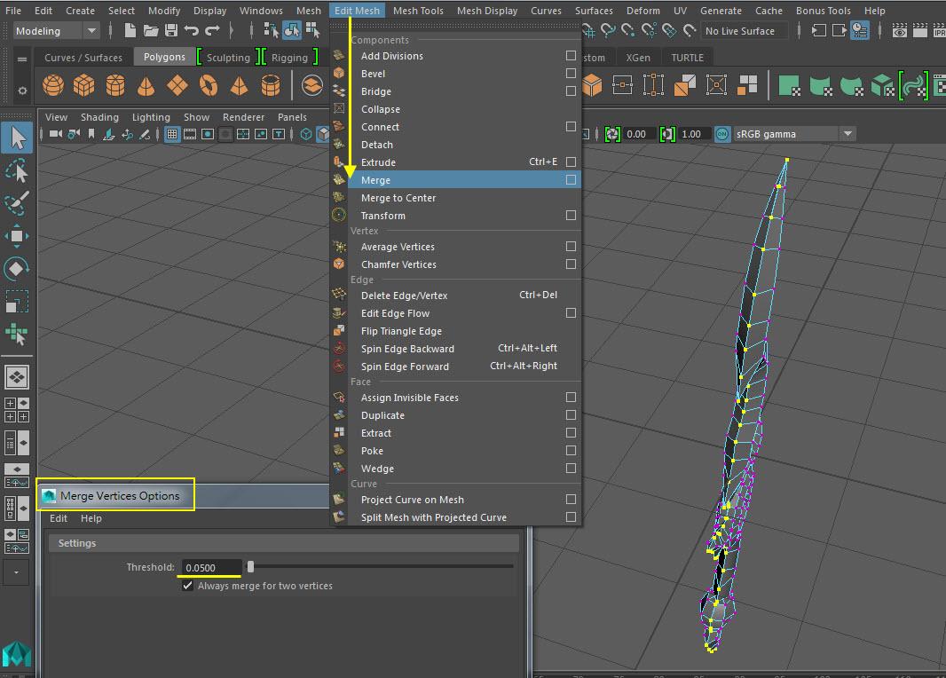 Blade UV Mapping 20