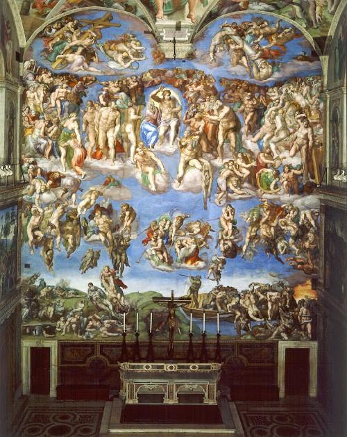 michelangelo buonarroti giudizio universale cappella sistina