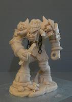 modellini creature videogioco fantasy guerriero minotauro orme magiche