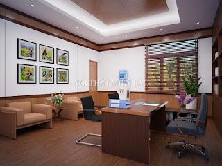 Thiết kế nội thất văn phòng giám đốc nhỏ tiện lợi - H2