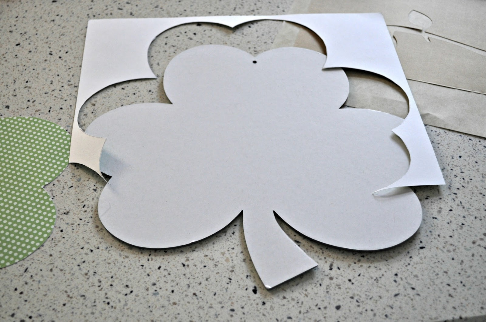 shamrock cut out template - keep calm and decorate dollar tree shamrock
