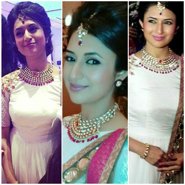 @divyankatripathi looking radiant in statement sb y fr , at kp kisha adi ,!   statement sb y fr , jewelry , high end , kundan , gemstones , necklace , headgear , ti ka a , bangles , earrings , bridal jewelry , destination wedding , karan patel , ankita bhargava , yeh hai mohabbatein , divyanka tripathi , mihika varma , @yeh_hain_mohabbatein_fc @pinkvilla_bollywood @tellychakkar @starplus @parekh_forum, Divyanka Tripathi Pics from Karan Patel's Wedding