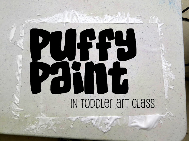 http://librarymakers.blogspot.com/2012/11/toddler-art-class-puffy-paint.html