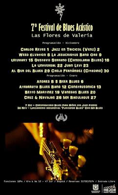 Programación 7 Festival de Blues Acustico Las Flores de Valeria