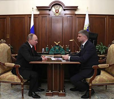Vladimir Putin, Oleg Belozerov.