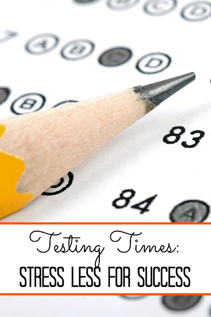 How can both children and parents relax during testing times?