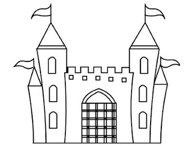 Замок раскраска