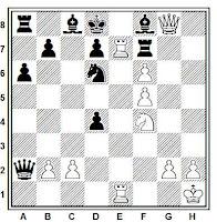 Sacrificio de obstrucción, partida de ajedrez Mihail Tal - Andrés Vooremaa (Torneo de Ajedrez de Tallinn de 1971)