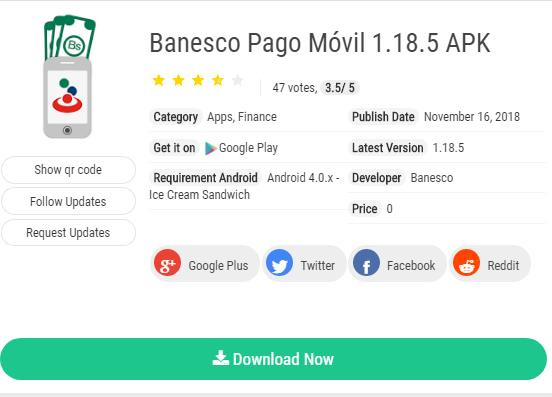Descargar aplicación banesco pago movil apk