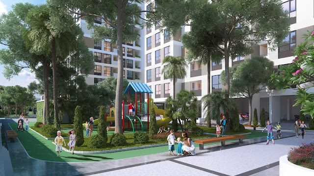 Khuôn viên xanh tại Eco dream city