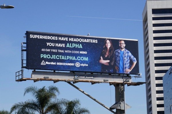 Project Alpha website billboard