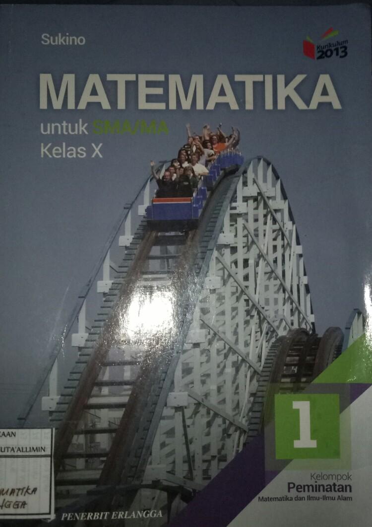 Buku Matematika Wajib Kelas 10 Intan Pariwara