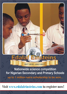 Win over N1m in EDALAF EINSTEINS's Nationwide Science Competition for all Nigerian Secondary & Primary Schools