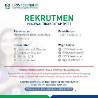 Info Lowongan Kerja BPJS Kesehatan Cabang Papua