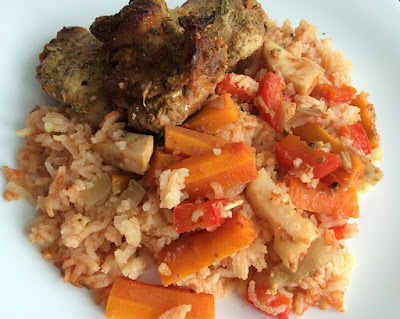 Pieczony indyk z ryżem
