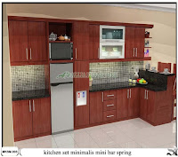 kitchen set mini bar minimalis spring