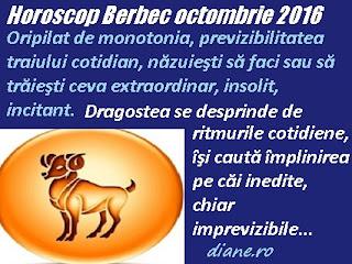 Horoscop Berbec octombrie 2016