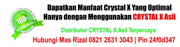 Jual Crystal X di Bogor, Ciamis, Garut, Indramayu