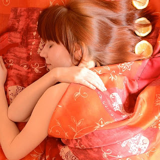 Sleeping in red sheets