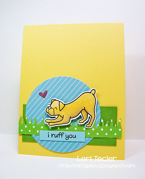 I Ruff You card-designed by Lori Tecler/Inking Aloud-stamps from Lawn Fawn
