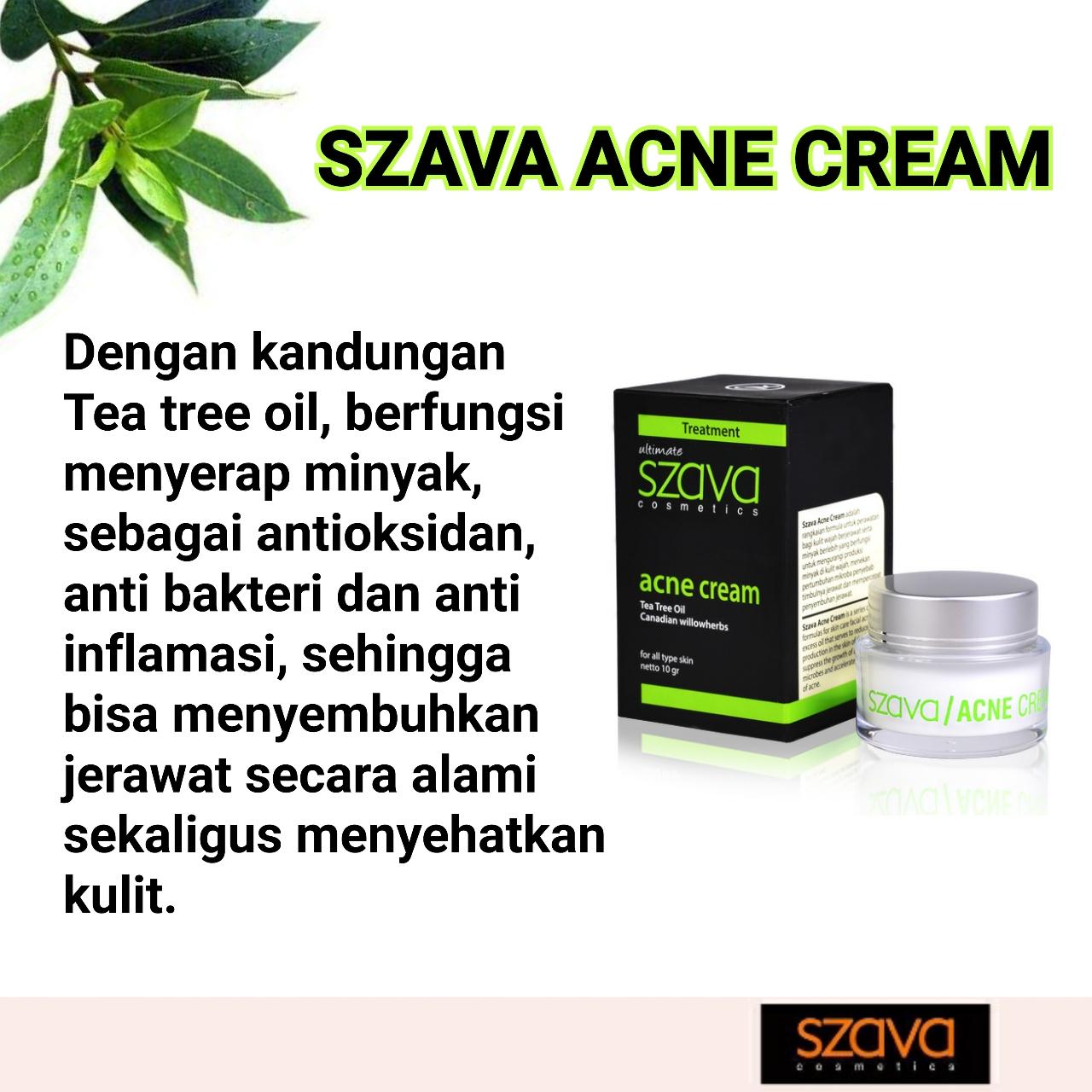 Manfaat Tea Tree Oil Dalam Szava Acne Cream
