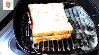 image of sandwich on grill pan